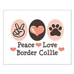 Peace Love Border Collie Small Poster