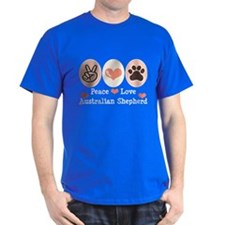 Peace Love Australian Shepherd T-Shirt