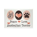 Peace Love Australian Terrier Rectangle Magnet (10