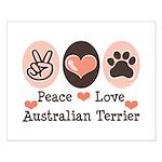 Peace Love Australian Terrier Small Poster