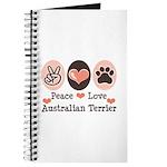 Peace Love Australian Terrier Journal
