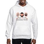 Peace Love Australian Terrier Hooded Sweatshirt