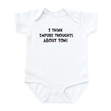 Toni (impure thoughts} Infant Bodysuit