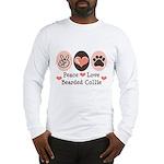 Peace Love Bearded Collie Long Sleeve T-Shirt