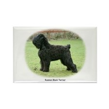 Russian Black Terrier Rectangle Magnet