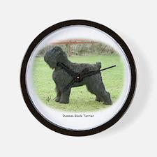 Russian Black Terrier Wall Clock
