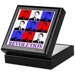 Reagan Revolution Pop Art Keepsake Box