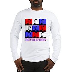 Reagan Revolution Pop Art Long Sleeve T-Shirt