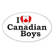 I love Canadian Boys Oval Decal