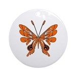 'Butterfly Tattoos Round Ornament