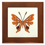 'Butterfly Tattoos Framed Tile