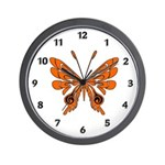 'Butterfly Tattoos Wall Clock