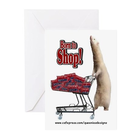 Born to Shop Greeting Cards (Pk of 10)