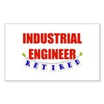 Retired Industrial Engineer Rectangle Sticker