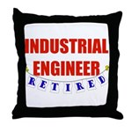 Retired Industrial Engineer Throw Pillow