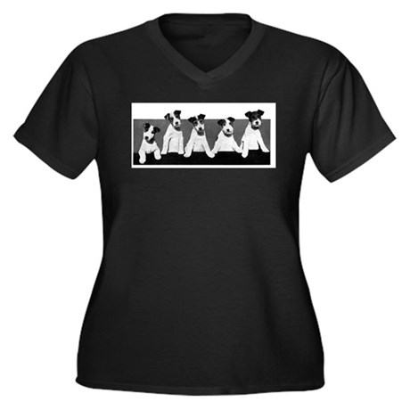 Jack Russell Terriers (Front only) Women's Plus Si