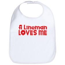 A Lineman Loves Me Bib