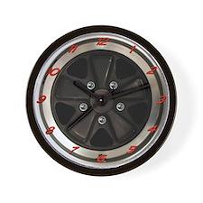 Porsche 911 Fuchs Wheel Wall Clock