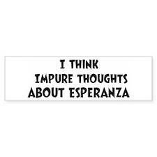 Esperanza (ball and chain) Bumper Bumper Sticker