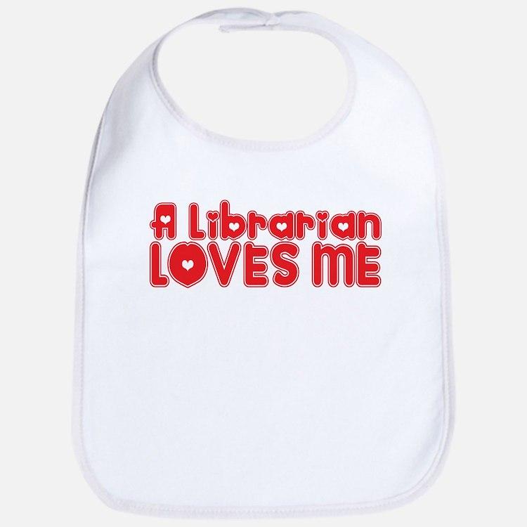 A Librarian Loves Me Bib