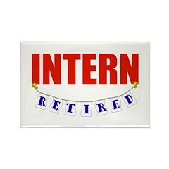 Retired Intern Rectangle Magnet