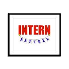 Retired Intern Framed Panel Print