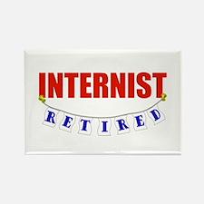 Retired Internist Rectangle Magnet