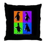 Penguin Dance Throw Pillow