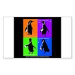 Penguin Dance Rectangle Sticker