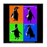Penguin Dance Tile Coaster