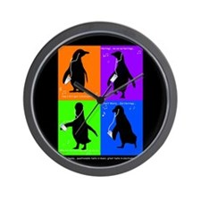 Penguin Dance Wall Clock