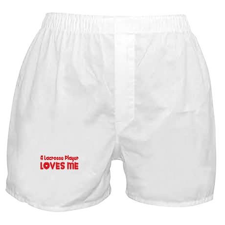 A Lacrosse Player Loves Me Boxer Shorts