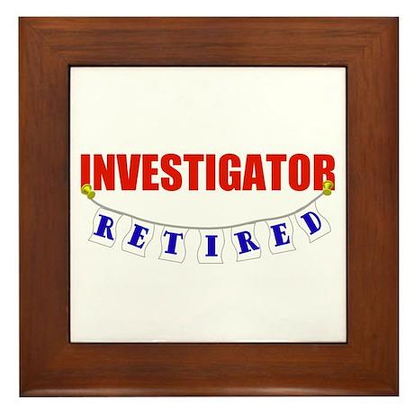 Retired Investigator Framed Tile