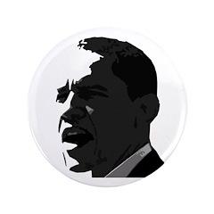 "Obama Black & White 3.5"" Button"