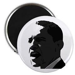 Obama Black & White Portrait Magnet