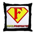Super Firefighter Throw Pillow