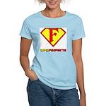 Super Firefighter Women's Pink T-Shirt