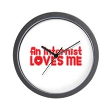 An Internist Loves Me Wall Clock