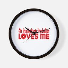 An Insulation Installer Loves Me Wall Clock