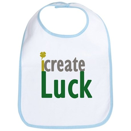 I Create Luck Bib