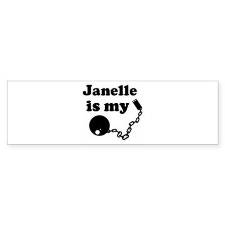 Janelle (ball and chain) Bumper Sticker