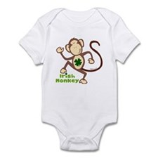 Shamrock Irish Monkey Infant Bodysuit