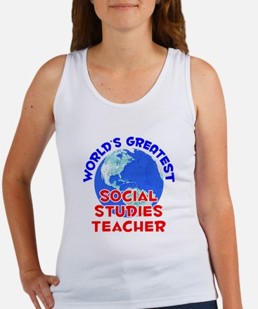 World's Greatest Socia.. (E) Women's Tank Top