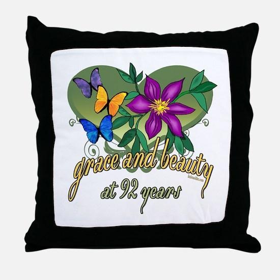 Beautiful 92nd Throw Pillow