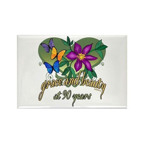Beautiful 90th Rectangle Magnet