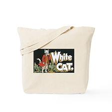 White Cat Tote Bag