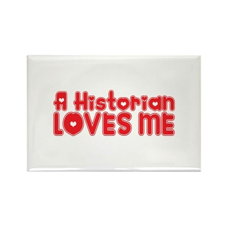 A Historian Loves Me Rectangle Magnet (10 pack)