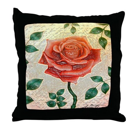 Red Rose Decorative Pillow : Red Rose Throw Pillow by MinistryofHealingArts
