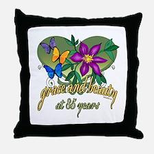 Beautiful 85th Throw Pillow