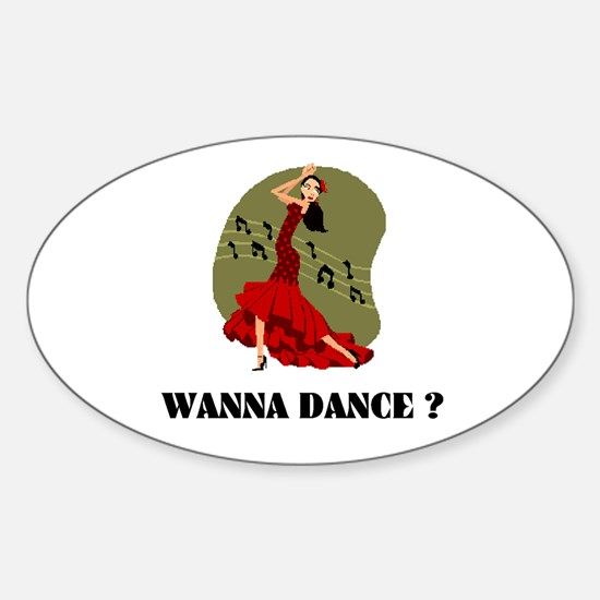 DANCER Oval Decal